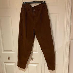 Chocolate Brown Balloon Leg Jeans